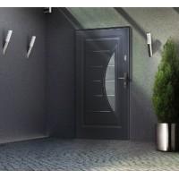 Drzwi zewnętrzne stalowe przeszklone grubość 56 mm
