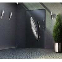 Drzwi zewnętrzne stalowe przeszklone grubość 68 mm